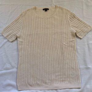 Brooks Brothers cream cashmere silk sweater